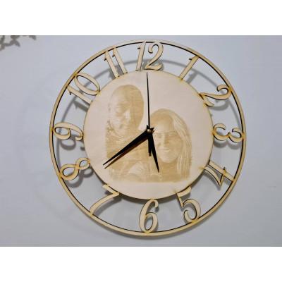 3D nástenné hodiny s fotom