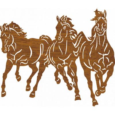 Drevená dekorácia koňe
