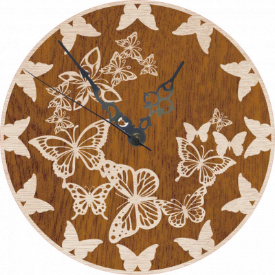 3D nástenné hodiny s motýľmi